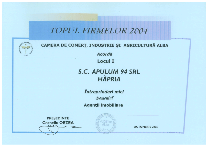 Anul 2004 Diploma