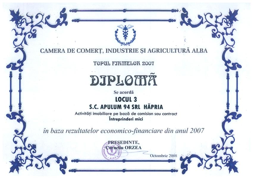 Anul 2007 – Diploma