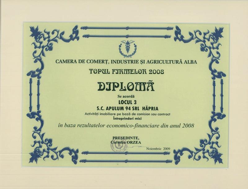 Anul 2008 – Diploma si Medalie