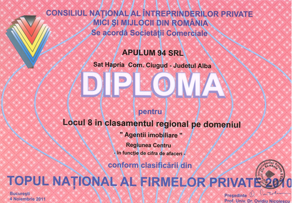 Anul 2010 – Diploma – Bucuresti