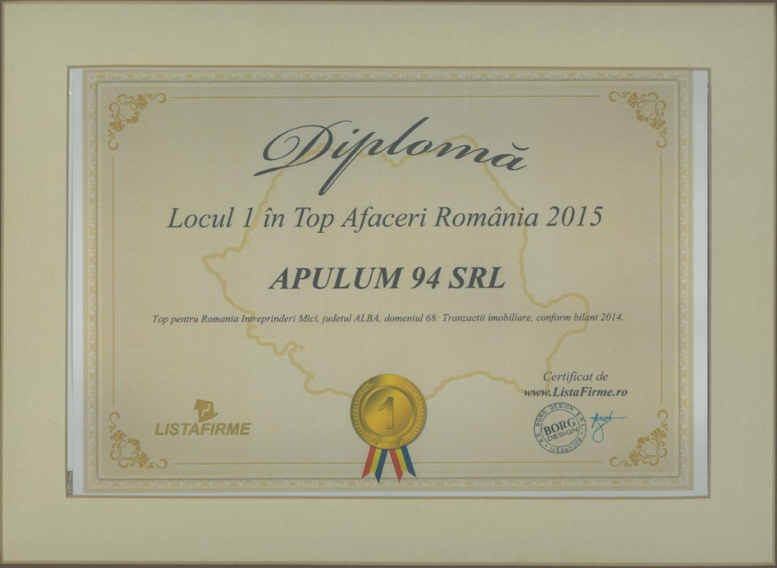 Top Afaceri Romania – 2015