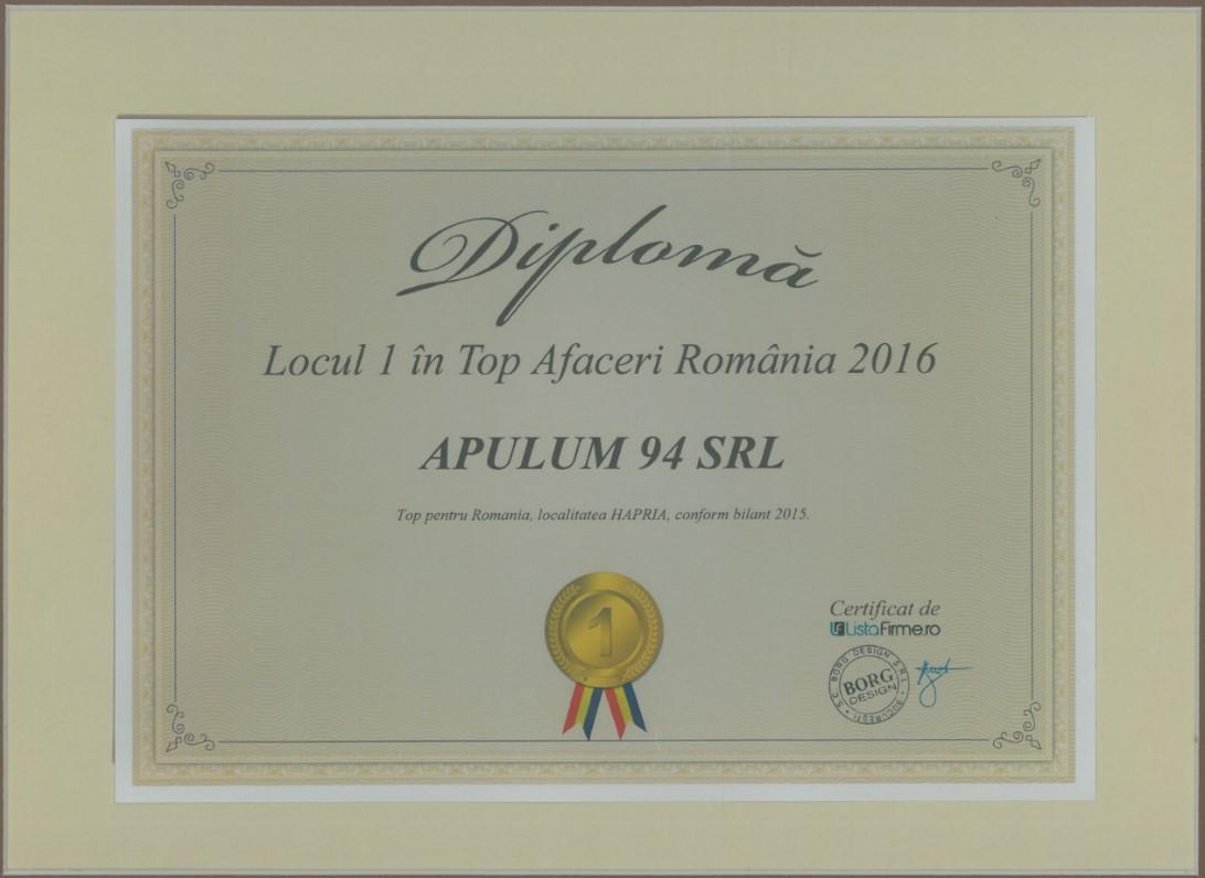 Top Afaceri Romania – 2016