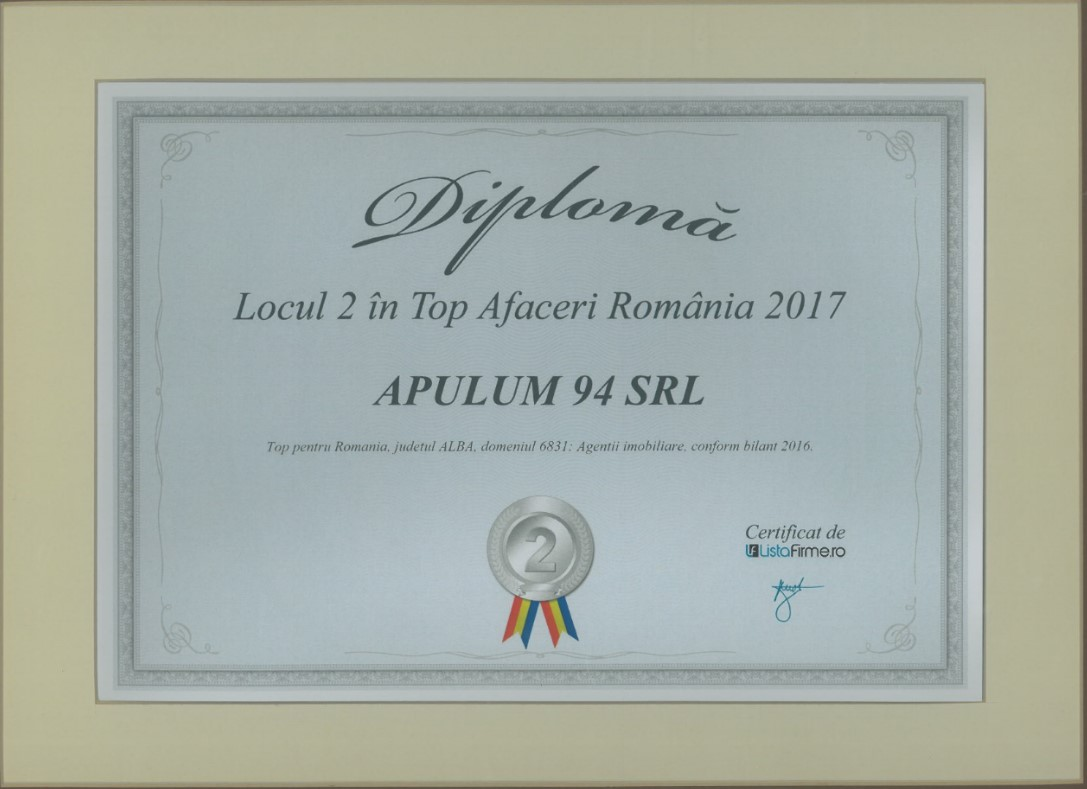 Top Afaceri Romania – 2017 - Locul 2 - Alba