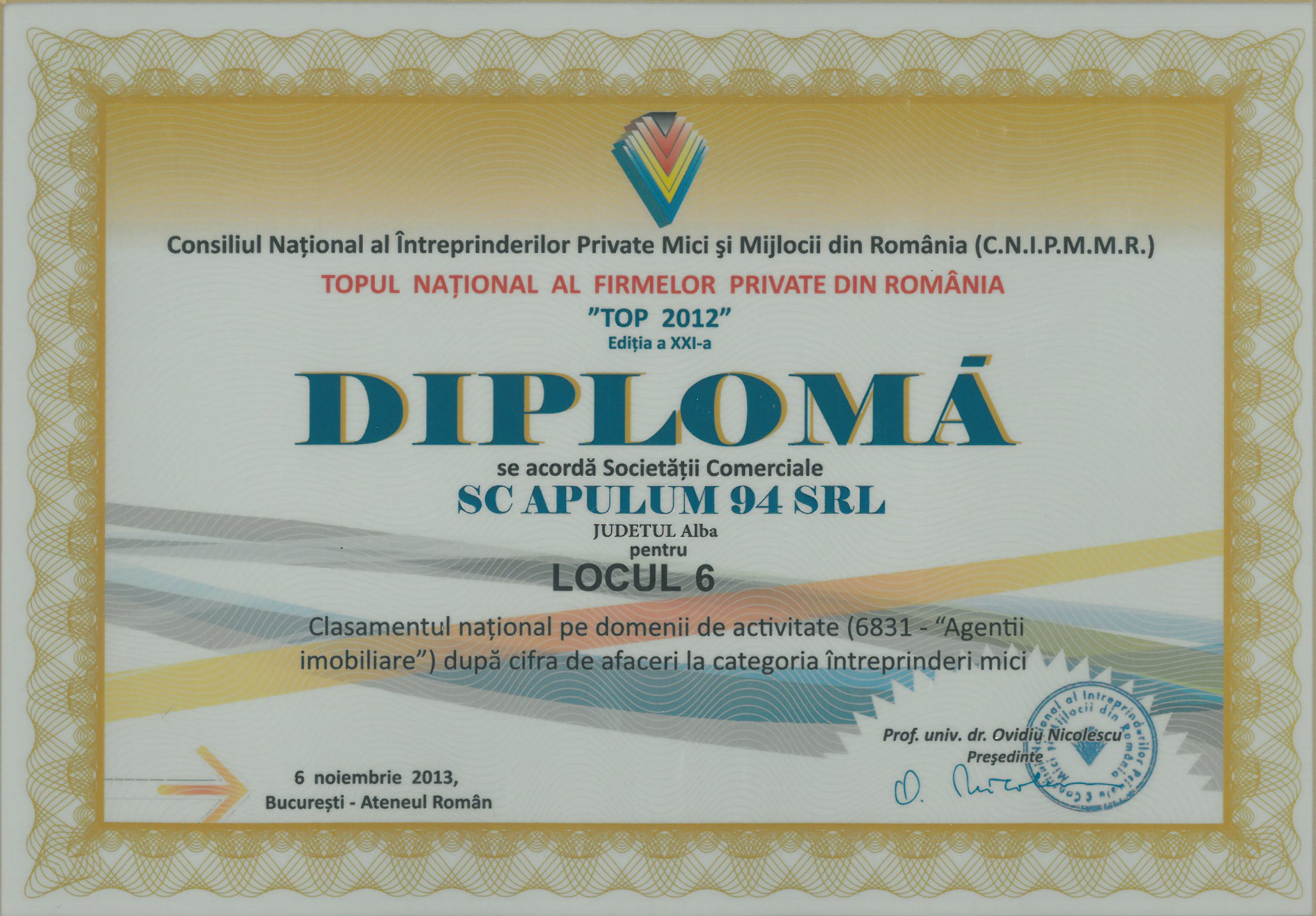 Topul National al Firmelor Private din Romania – 2013